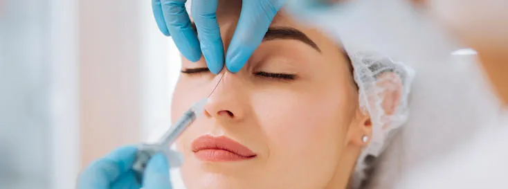 اصلاح فرم بینی بدون جراحی و با استفاده از ژل و فیلر